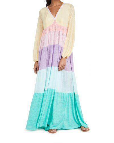 Трикотажное платье с декольте на резинке Pitusa