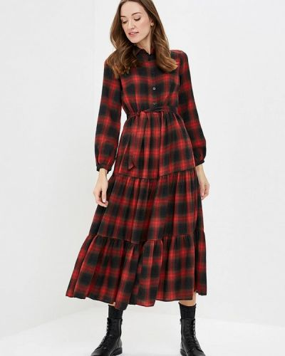 Платье красный осеннее Paccio