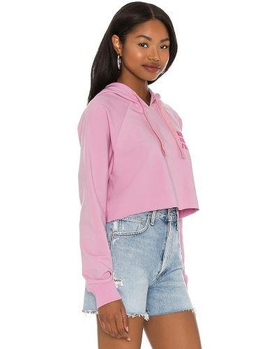 Różowa bluza z kapturem bawełniana Spiritual Gangster