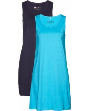 Летнее платье мини без рукавов Bonprix