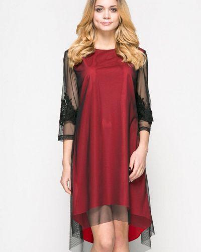 Вечернее платье весеннее красный Zubrytskaya