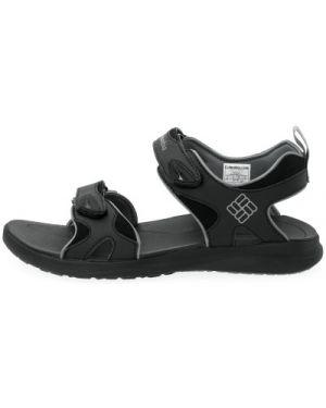 Спортивные черные кожаные сандалии туристические Columbia