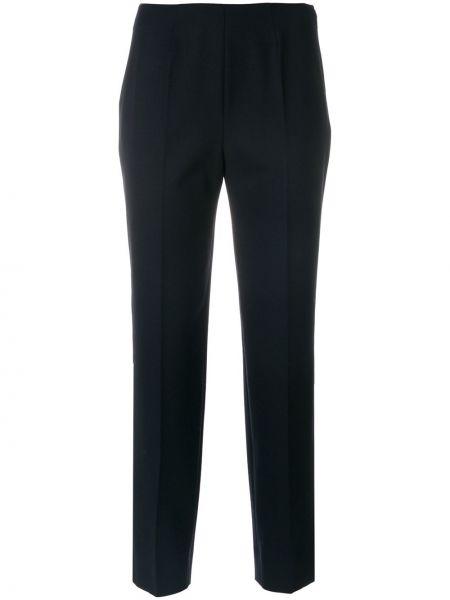 Укороченные брюки шерстяные синие Piazza Sempione