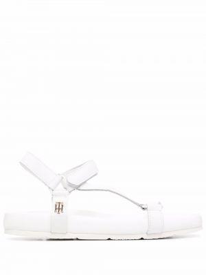 Sandały skórzane - białe Tommy Hilfiger