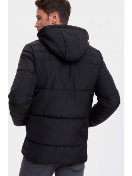 Стеганая куртка - черная Defacto