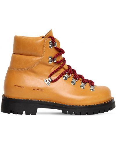 Ажурные ботинки трекинговые на шнуровке на каблуке металлические Proenza Schouler