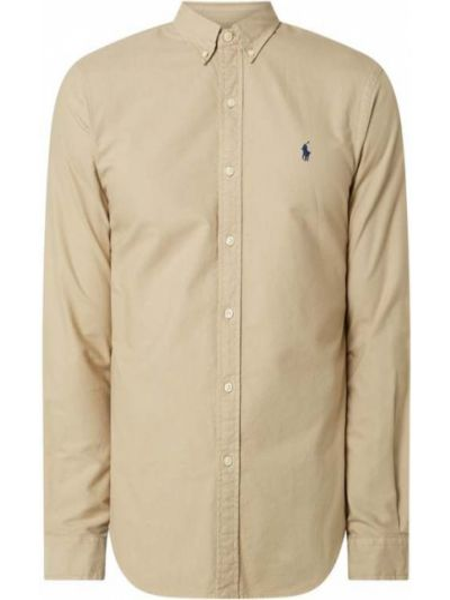 Bawełna beżowy puchaty koszula oxford z mankietami Polo Ralph Lauren
