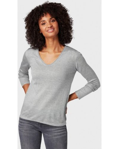 Серый пуловер Tom Tailor