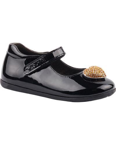 Туфли лаковые черные Moschino