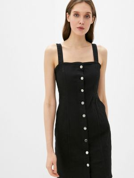 Джинсовое платье черное весеннее Adl