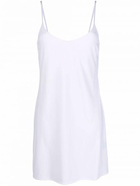 Пляжное белое платье с вырезом Fisico