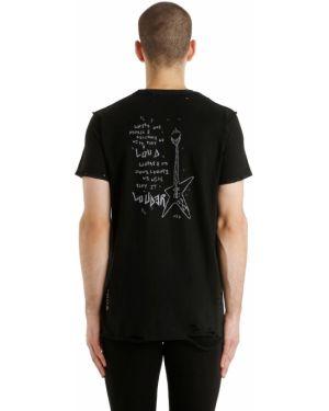 Czarny t-shirt skórzany Mjb Marc Jacques Burton