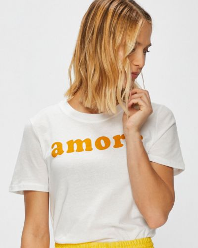 Белая свободная футболка Only