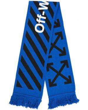 Niebieski szalik wełniany Off-white