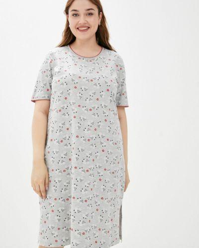 Серое платье летнее Ulla Popken