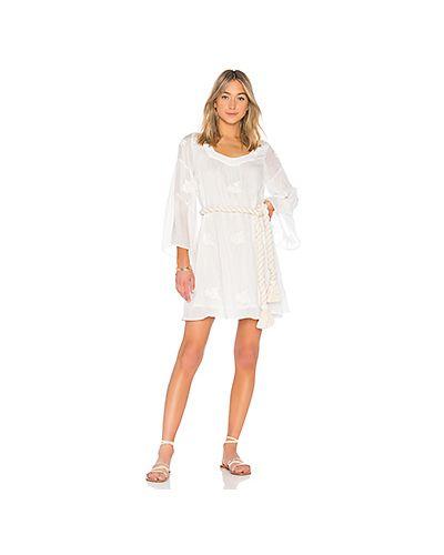 Платье с вышивкой шелковое Sundress