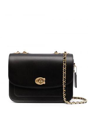Кожаная сумка - черная Coach