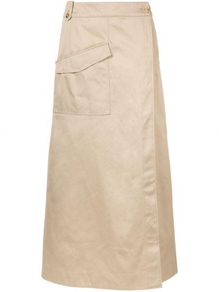 С завышенной талией юбка макси с запахом с поясом на пуговицах Nehera