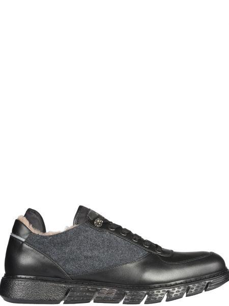 Кожаные кроссовки - черные Fabi