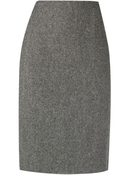 Spódnica ołówkowa wełniana - czarna Christian Dior