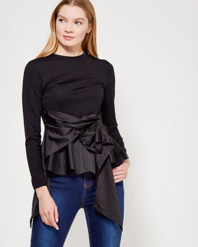 Черная блузка с рюшами Lost Ink Petite