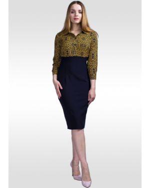 Платье с завышенной талией на пуговицах Lila Classic Style
