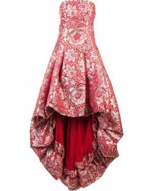 Платье с драпировкой приталенное Zac Zac Posen