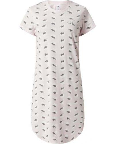 Koszula nocna bawełniana - różowa Ck One