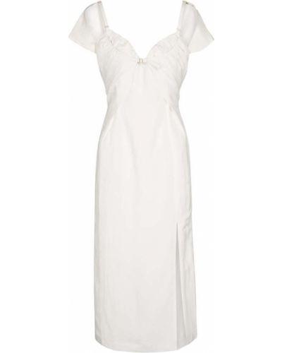 Льняное белое платье миди Jacquemus