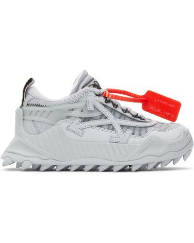 Кожаные кроссовки - белые Off-white