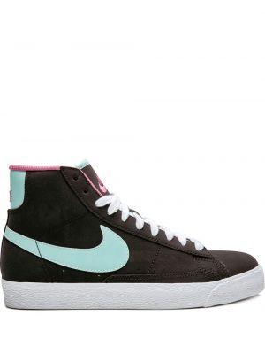 Черный кожаный пиджак на шнуровке Nike Kids