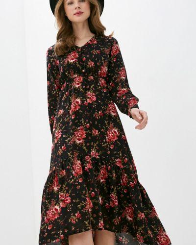 Прямое черное платье Tiffosi
