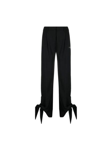 Czarne spodnie z printem Off-white