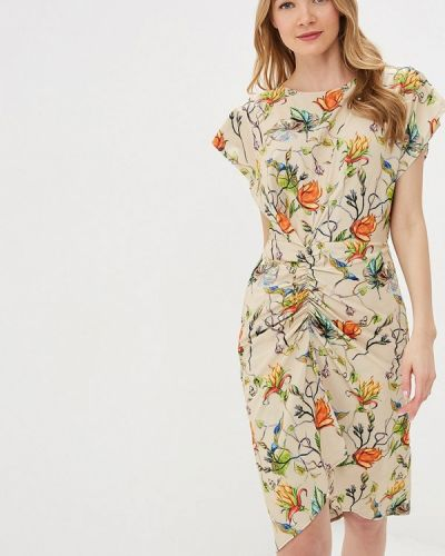 Платье прямое бежевое Tutto Bene