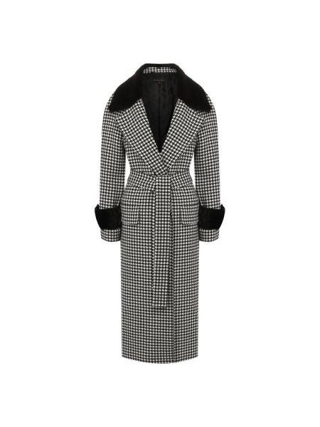 Пальто шерстяное с воротником Escada