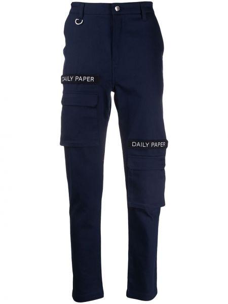 Spodnie z wysokim stanem ładunek z kieszeniami Daily Paper