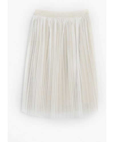 Серебряная юбка Mango Kids
