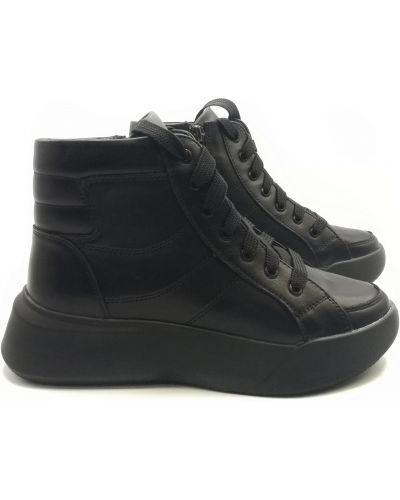 Кожаные ботинки - черные Kento