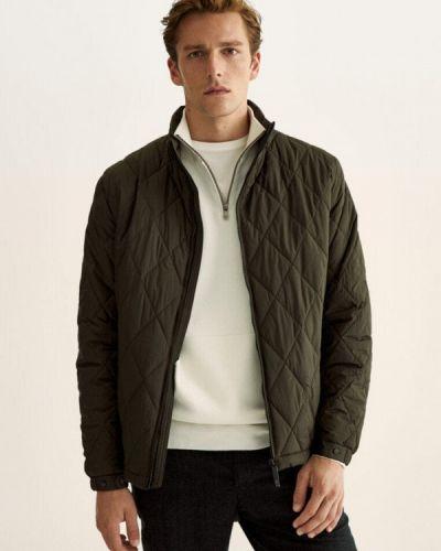 Зимняя куртка хаки Massimo Dutti