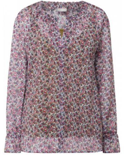 Różowa bluzka z szyfonu z dekoltem w serek Betty & Co Grey
