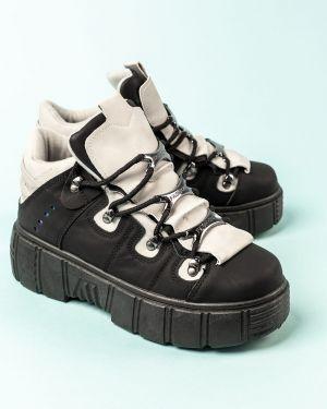 Кроссовки черные серые Meitesi