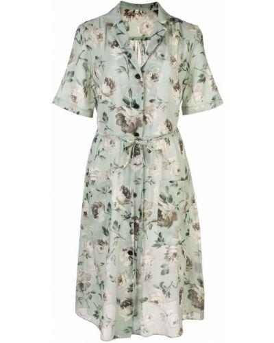 Платье на пуговицах с цветочным принтом R13