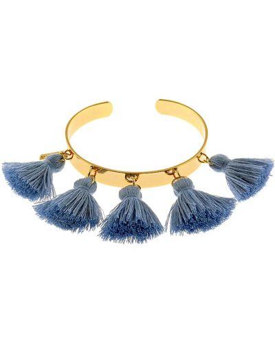 Bransoletka materiałowa - niebieska Tatami