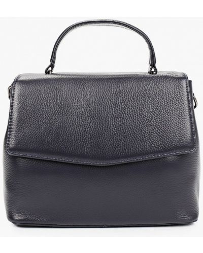 Синяя сумка с ручками из натуральной кожи Valensiy