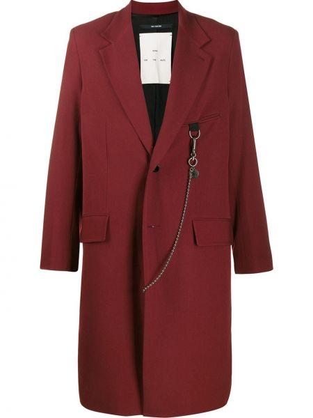 Klasyczny czerwony płaszcz wełniany Song For The Mute