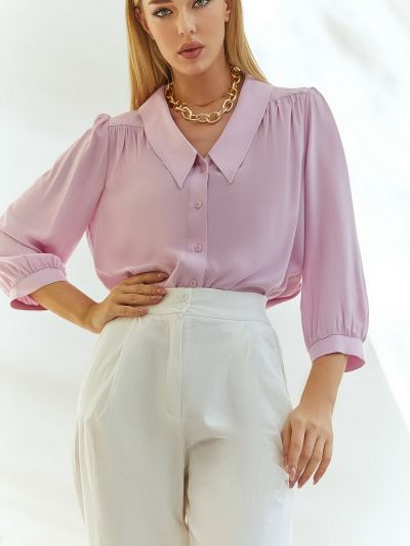 Розовая блузка с длинными рукавами Vovk