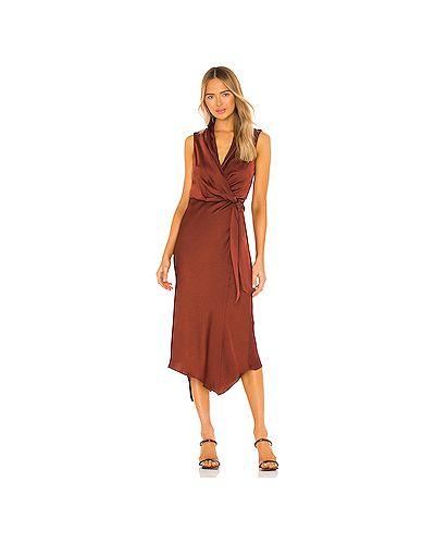 Красное платье миди на молнии из крепа Veronica Beard