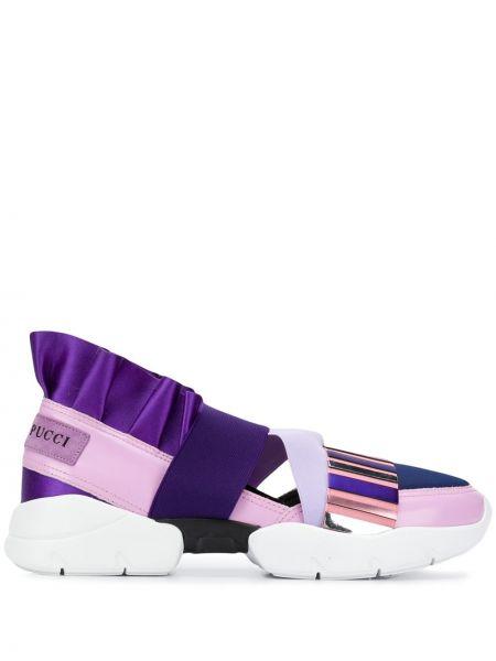 Skórzane sneakersy czarne miejski Emilio Pucci