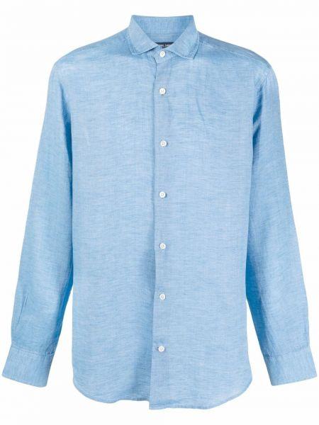 Niebieska klasyczna koszula Frescobol Carioca