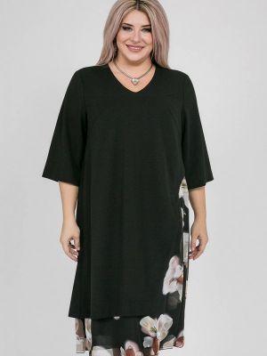 Черное повседневное платье Luxury Plus
